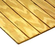 Tongue And Groove Roof Sheathing by 1 2 In X 4 Ft X 8 Ft T1 11 4 In On Center Deep Groove Pressure