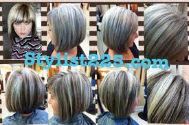 doing low lights on gray hair before after natural gray with dark ash brown low lights under
