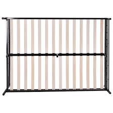 black steel bed frame with wood slats 30