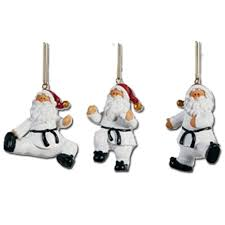 taekwondo santa ornament set taekwondo ornaments
