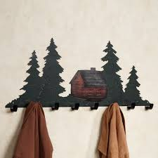 christmas tree black sheet metal wall mounted 7 coat hook syorage