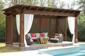 Backyard Cabana Ideas Cabana Curtains Cabana Designs Ideas Patio Contemporary With Live