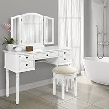 amazon com bathroom tri mirror vanity set makeup table hair