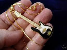 guitar necklace pendants images Fender bass guitar pendant necklace jewelry 24k goldplt fender jpg