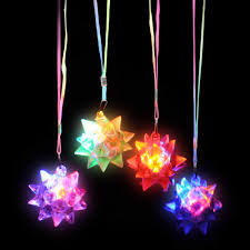 light necklace images Flashing panda light up star spike led ball pendant necklace best jpg