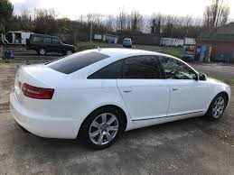 audi a6 saloon 2 0 tdi e se 4dr white 2009 2 owners in long