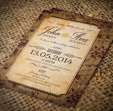 vintage wedding invitation vintage invitations isura ink