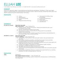 Data Entry Clerk Job Description Resume by Captivating Data Entry Specialist Job Description Resume 43 About