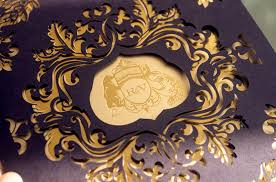 wedding invitations laser cut varun s lasercut and gold foil wedding invitations