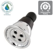 delta 1 spray 2 3 4 in water saving shower head in chrome 75153 water saving shower head in