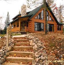 log home building plans country porch propertiescabin shell kits small cottage house diy