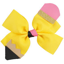 back to school hair bows 9pcs lot 5 5 pencil hair bow with alligator clip kids back school