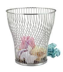 zodiac chrome wire waste paper basket amazon co uk kitchen u0026 home