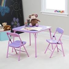 childrens folding table and chair set folding desk chair pink coryc me