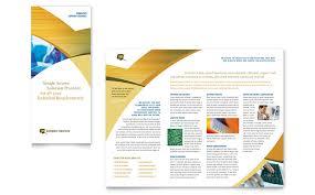 tri fold brochure publisher template computer services consulting tri fold brochure template word