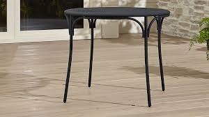 Sofa Table Crate And Barrel Aster Black Mesh Patio Table Crate And Barrel