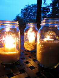 candle light decoration at home outdoor mason jar lights