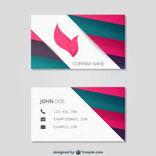 abstract business card template free vector 123freevectors