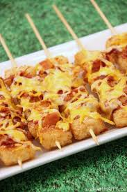 loaded tater tot skewers made with happy