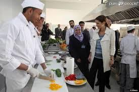 cuisine apprentissage rania de jordanie découvre l atelier cuisine du centre d