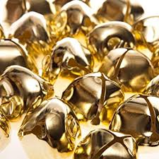 24 gold 35mm jumbo jingle bells for crafts craft