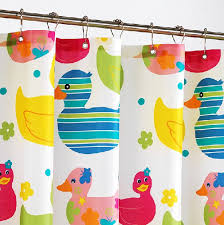 Duck Shower Curtains Cartoon Duck Colorful Shower Curtains Thicker Polyester For Kids