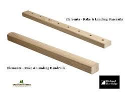 Richard Burbidge Handrail Elements White Oak Handrail U0026 Baserail Chiltern Timber