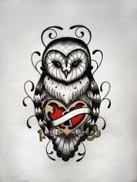 tattoo pictures of owls owl heart rose tattoo google search beautiful things pinterest