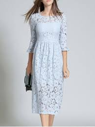 blue lace dress high waisted lace prom dress light blue lace dresses s zaful
