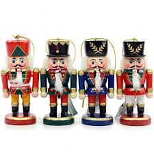 nutcracker ornaments wooden nutcracker ornament set of 4 christmas