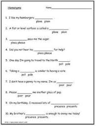 common homonyms and homophones you should know worksheets esl