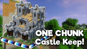 minecraft castle keep in one chunk tutorial youtube