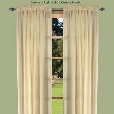 Yellow Grommet Curtain Panels by Lucerne Dual Pocket Semi Sheer Curtain Panels