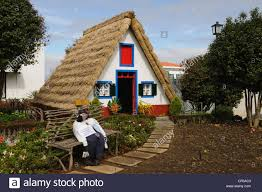 a frame cottage traditional thatched a frame cottages santana madeira stock photo