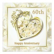 60th anniversary cards invitations zazzle co uk