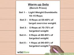 A Good Bench Press Weight How To Warm Up For Bench Pressing With Pictures Wikihow