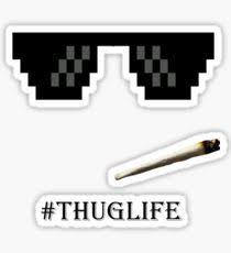 Black Glasses Meme - thug life glasses stickers redbubble