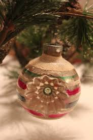 vintage glass shiny bright ornament made in usa by talesoftime