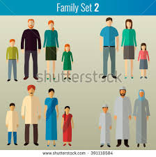 free family silhouette vector icons free vector
