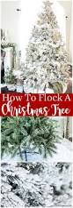 how to flock or snow spray a christmas tree wreath or garland