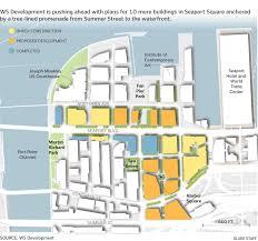 city says developer u0027s plan for key part of seaport gives short