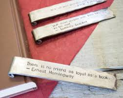 6th anniversary gifts for him 6th anniversary gift bookmark personalized iron anniversary