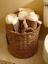 wicker basket towel storage towel storage ideas for the