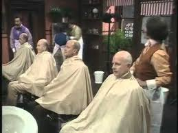 the two ronnies the barber shop having a laugh