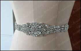cheap sashes 2017 new motif rhinestone bridal sashes shiny