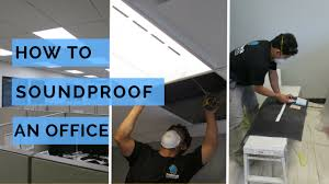 soundproofing an office ceiling youtube