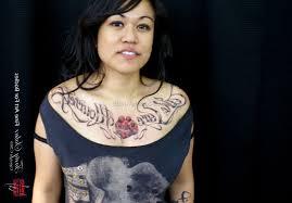 chest piece tattoo female 1 best tattoos ever