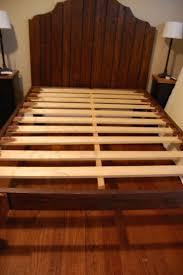 Headboard Ideas Wood by Best 25 Reclaimed Wood Bed Frame Ideas On Pinterest Reclaimed