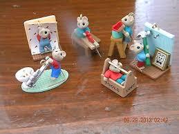 hallmark miniature ornament set tiny home improvers six tiny mice