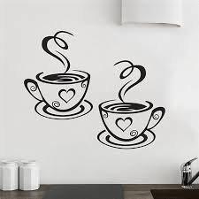 Coffee Wall Decor For Kitchen Aliexpress Com Buy New Arrival Beautiful Design Coffee Cups Cafe
